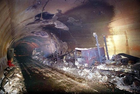 1999-2000 Réhabilitation du tunnel du Mont-Blanc à Chamonix