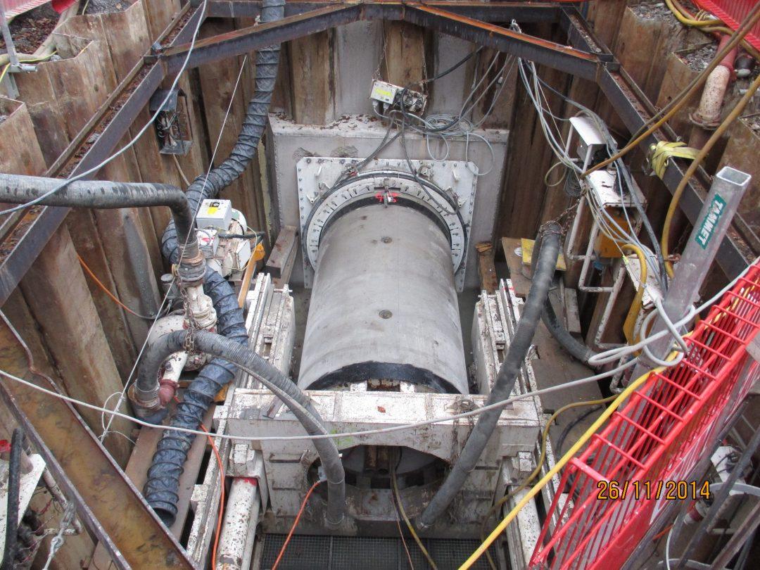 Microtunnelier Le Corbusier / Canalisation EC Ø1500 (Suisse)