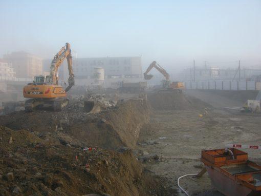 Gestion des terres excavées d'un site pollué à Fribourg (Suisse)