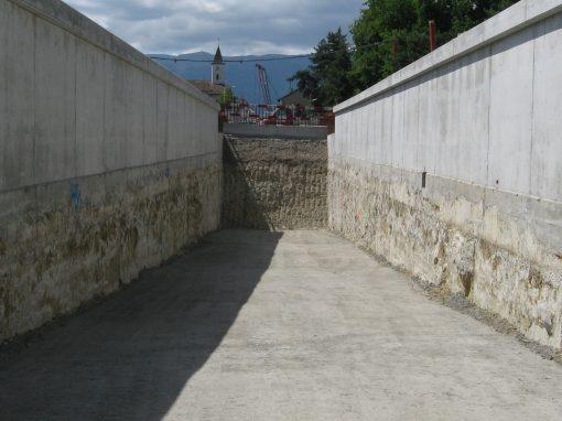 Tranchée couverte – Tranchée Couverte Meyrin Village (Suisse)