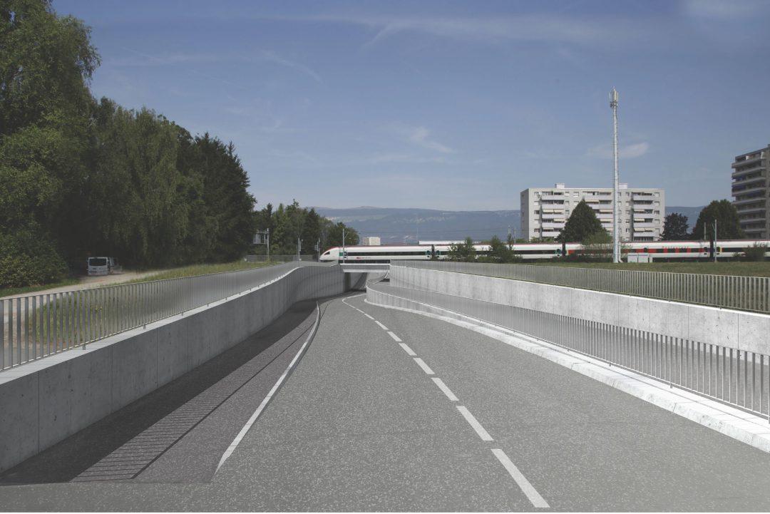 Route de contournement secteur Sud – Passage inférieur de la voie de chemin de fer – Yverdon-Les-Bains (Suisse)