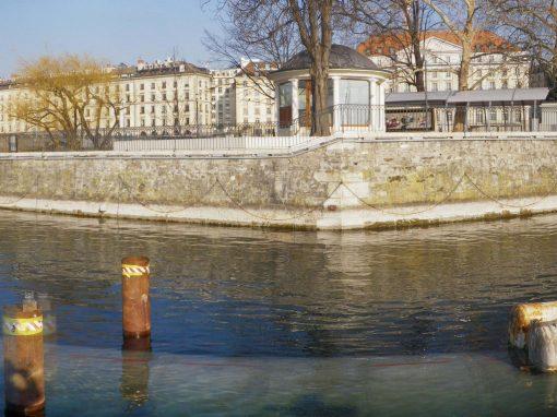 Conduite d'eau filtrée sous lacustre – Prieuré à Arquebuse – Genève – Suisse
