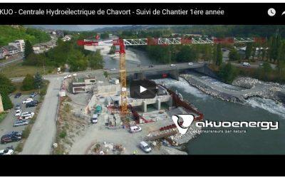 Fin de la phase 1 des travaux de construction de l'usine hydroélectrique de Chavort – Mai 2017