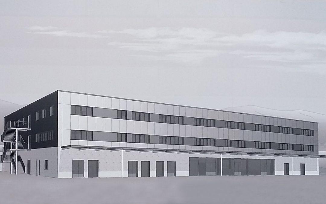 Bâtiment de stationnement de la troupe Meyrin-Mategnin (Suisse) – Fin des travaux de gros-œuvre Novembre 2017