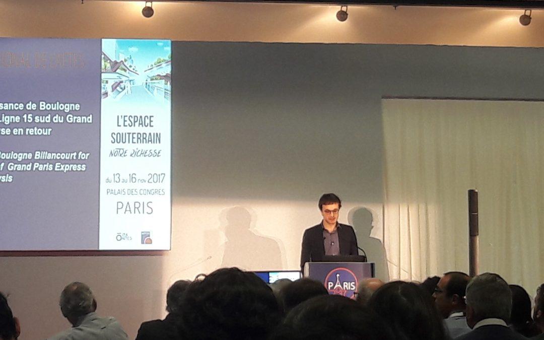 La presse en parle : intervention de GEOS au congrès international de l'AFTES dans le MONITEUR