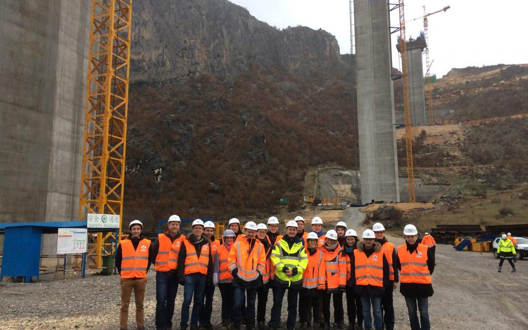 GEOS visite le chantier autoroutier Bar-Boljare au Monténégro