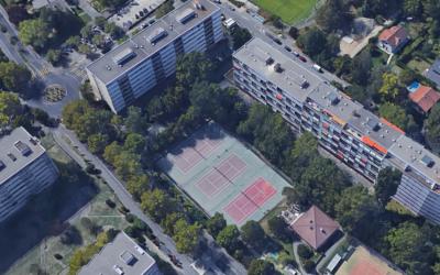 Rétention de 2 000 m3 d'eaux claires sous les tennis des Fraisiers