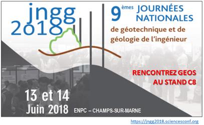 Journées Nationales de Géotechnique et de Géologie de l'Ingénieur – Juin 2018