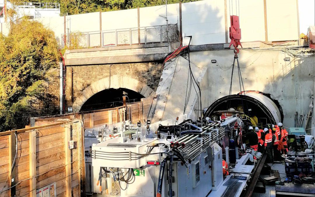 GEOS au front pour le démarrage du creusement de la galerie de sécurité du tunnel de Meudon du RER C  !