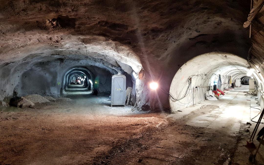 Fin du creusement de la galerie MIGA